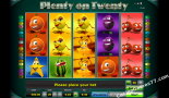 slot automaty Plenty on twenty Greentube